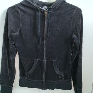 Other - Black velour sweatshirt